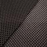 Space Mesh - tejido espaciador/tejido de malla 3D - acolchado para mochilas y cinturones - transpirable y de secado rápido - negro - por metro