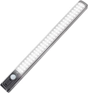 84 LED Closet Light 4W Motion Sensor Closet Lights Rechargeable Under Cabinet Lighting Wireless Wardrobe Light for Closet,...