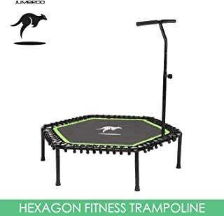 "Jumbroo 53""/135cm Sports Fitness Trampoline with Adjustable Handle Bar Gym Training Use"