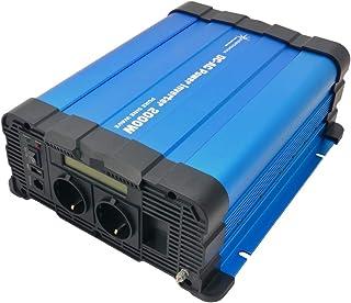solartronics spanningstransformator FS2000D 12V 2000/4000 Watt zuiver sinus blauw met display FS-serie inverter omvormer