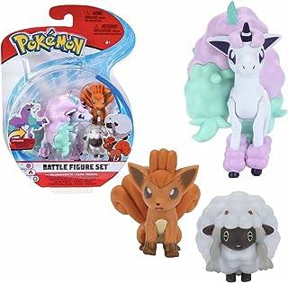 Selectie Battle figuren | Set van 3 | Pokemon | Action speelfiguren om te verzamelen, speelfigur:Ponita. Vulpix & Wooly