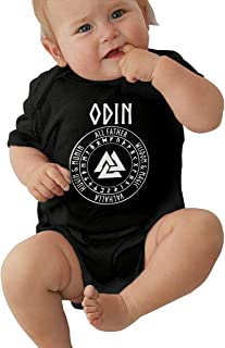 Valknut Symbol Norse Warrior Baby Long Sleeve Bodysuit Cotton Romper