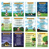 Popular Bible Songs Series 1 Educational Learning Posters (6-Pack) - Encouraging Bible Verses Poster for Men Women Teens - A3 Size - Renewed in God's Blessing Poster Wall Decor Sunday School Church