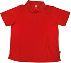 Hireko PGA Tour Women's Polo Shirt, Red Solid, Medium, Red Solid, Medium