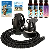 Belloccio Premium T75 Sunless HVLP Turbine Spray Tanning System with Simple Tan 4 Solution Variety Pack and Video Link