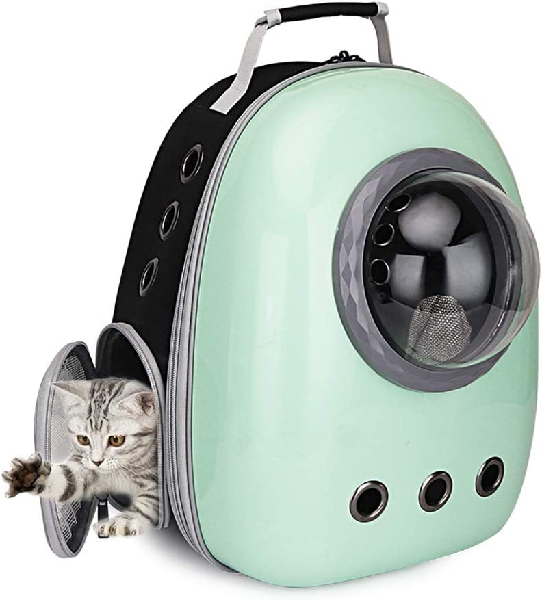 Portable Travel Pet Carrier Bubble Backpack for Dog and Cat Dome Airline Approved Space Capsule Waterproof Knapsack Outdoor Breathable Pet Bag