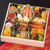 北海道 北のシェフ おせち料理 2022 海鮮おせち 一段重 特大8寸 25品 盛り付け済み 冷凍おせち 2人前~3人前 お届け日:12月30日