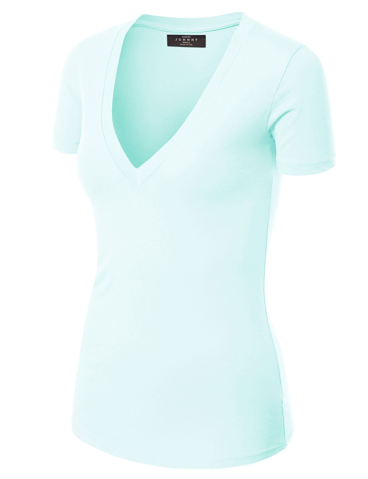 Made Johnny Womens Fitted LIGHTBLUE