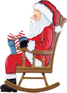 Collections Etc Outdoor Christmas Decoration - Rocking Chair Mr. & Mrs. Santa Claus, Santa