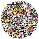 Pegatinas de moda 300 piezas, tema de pegatinas de dibujos animados, pegatinas de pegatinas para portátiles, pegatinas de graffiti de vinilo a prueba de agua para maleta, guitarra, adolescentes