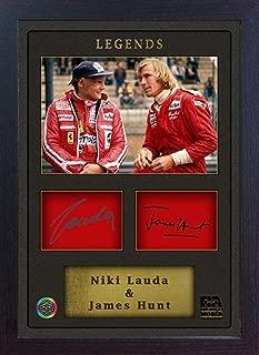 S&E DESING Niki Lauda James Hunt Signed Autograph Photo Print Ferrari Framed