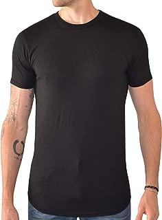 Men's Curved Hem Long Drop Tail T Shirt