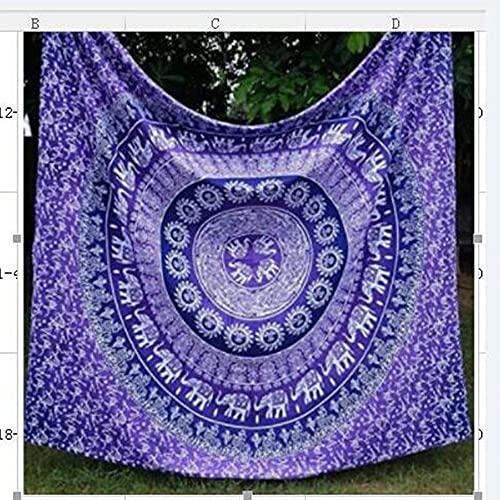 Tapiz de mandala indio colgante de pared tapiz bohemio manta de toalla de playa decoración de la pared del hogar tela de fondo A10 73x95cm