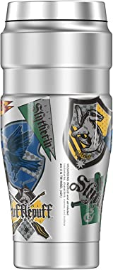 Harry Potter House Pride Sticker Collage THERMOS STAINLESS KING Stainless Steel Travel Tumbler, Vacuum insulated & Double
