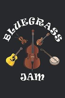Bluegrass Jam Fiddle Mando Guitar Bass Banjo Music Festival: Undated Daily Planner Journal - 6 x 9 inch Notebook Planner, ...