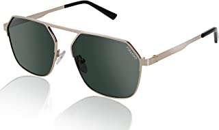 fed9d2a3e5 fawova Gafas Sol Hexagonales Hombre Polarizadas, 2019 Chic Gafas Unisex con  Espejo Plateado Lente,