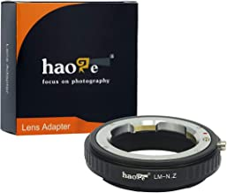 Haoge Manual Lens Mount Adapter for Leica M LM, Zeiss ZM, Voigtlander VM Lens to Nikon Z Mount Camera Such as Z6 Z7