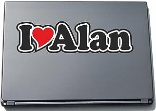 INDIGOS UG - 'I Love Serce' Naklejka Skóra laptopa 297 mm - I Love - I Love Alan - Laptop netbook komputer - Naklejka z im...