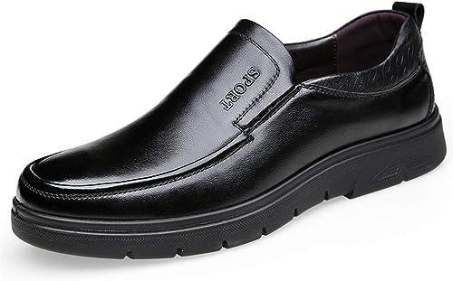 XHD-Chaussures Nouveaux vêteHommests pour Hommes Oxford Décontracté Slip on Décontracté Chaussures Simples (Couleur   Noir, Taille   40 EU)
