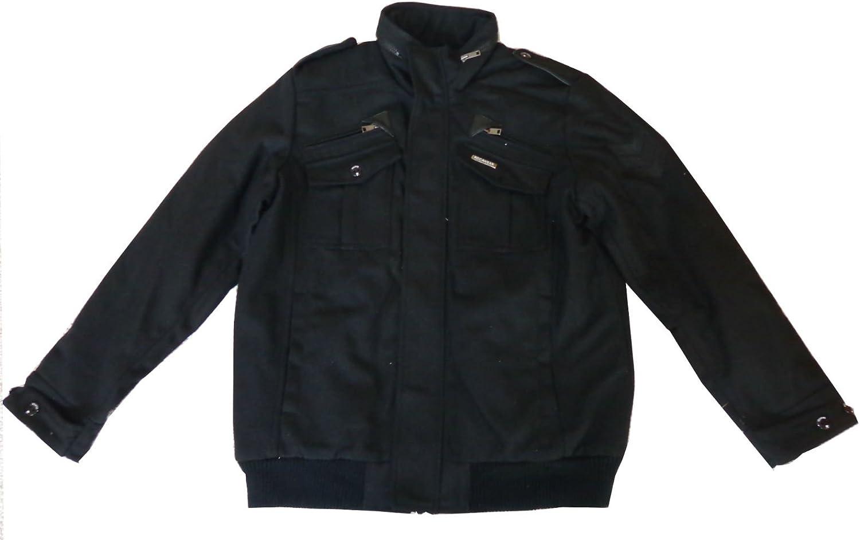Rocawear Men's Wool Blend Jacket Black X-Large