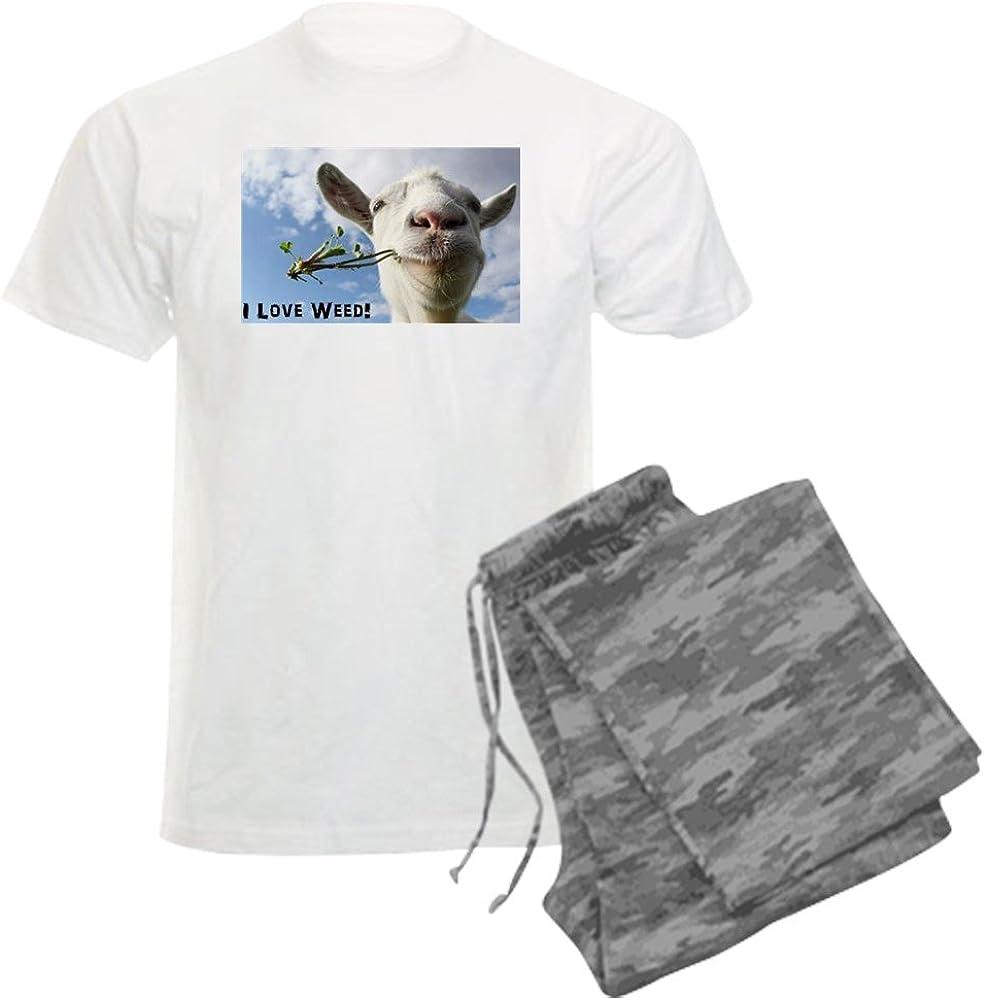 CafePress Max Free shipping on posting reviews 44% OFF Weed Goat Pajama Set