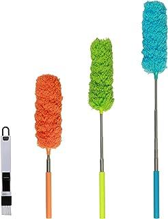 ZoomSky 4pcs Plumero de Microfibra,SEELOK Plumeros para el Polvo Extensible Atrapapolvo Muebles Productos de Limpieza de la Casa para Limpiar Esquina Techo Ventanas Persianas Tela de Araña
