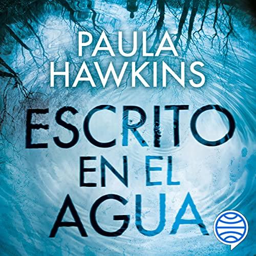 Diseño de la portada del título Escrito en el agua