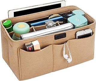 バッグインバッグ トート リュック 自立 収納整理 大容量 軽量 フェルト インナーバッグ インナーポケット 収納力抜群 仕分け 小物整理 出勤 旅行 メンズ レディース bag in bag (12ポケット)