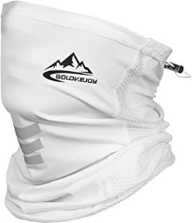Summer Cooling Neck Gaiters Adjustable Face Scarf Breathable Bandana Half Balaclava