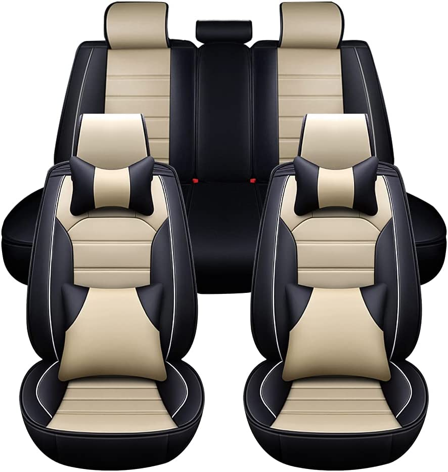 Leather Car Seat Covers Full Au Faux Leatherette Lowest price challenge Cover Finally popular brand Set