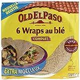 Old El Paso - 6 Wrap au Blé Complet 350 g