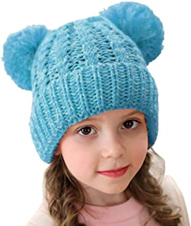 قبعة صغيرة سميكة وقابلة للتمدد من ياتين للأطفال والبنات والأولاد بوم آذان بوم بوم سميكة وقابلة للتمدد من عمر 1-8 سنوات