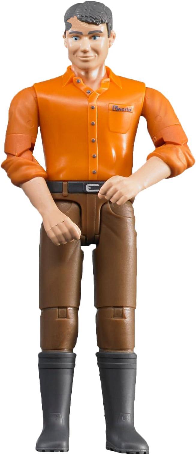 "Bruder Semi Truck Driver Man REPLACEMENT PART 3.75/"" GI Joe style Action Figure"