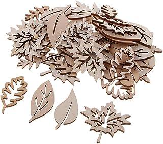 IPOTCH 50 Pièces Embellissement en Bois en Forme de Feuilles pour Decoration de Table Maison Fête Noël Scolaires Chambre V...