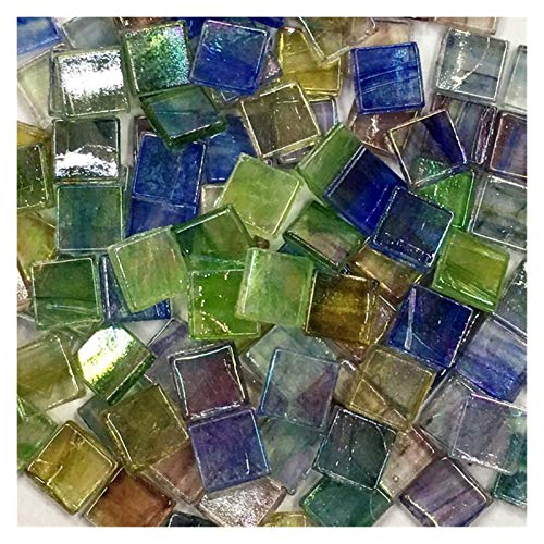 ShawnBlue 50 unids Multicolor Mosaico azulejo Cuadrado cerámico Mosaico Azulejos de Mosaico DIY Artes de artesanía Haciendo Material (Color : 8)