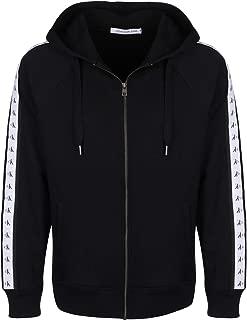 Calvin Klein Jeans Men's Monogram Tape Zip Hoodie, Black