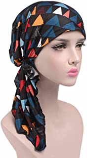 Highpot Women Fashion Printed Cancer Chemo Hat Beanie Scarf Turban Head Wrap Cap