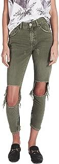 High Waist Freebird Skinny Jeans Super Khaki