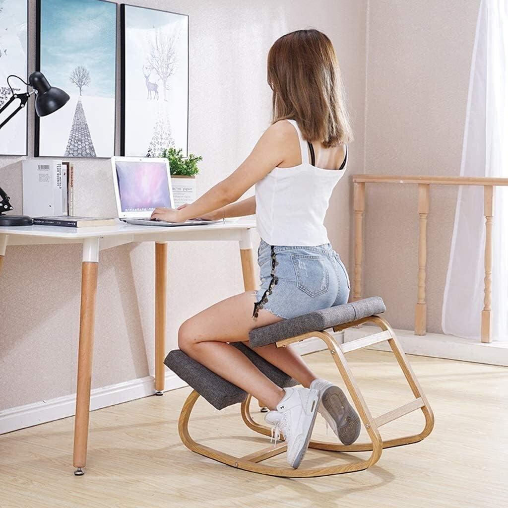ACUIPP Agenouillé Yoga Chaises Chaise fitness Chaise ergonomique Tabouret Mobilier de bureau Ordinateur Posture Chaise de bureau,Noir Noir