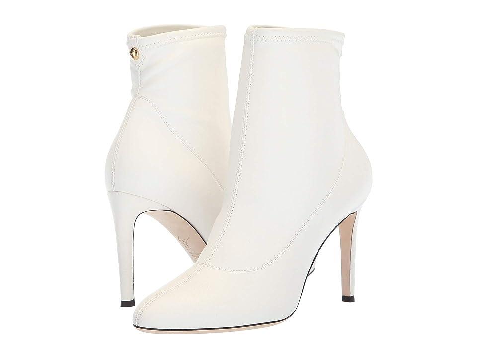 Giuseppe Zanotti Celeste Stretch Leather Boot (Blaze Stretch Bianco Acc Oro) Women