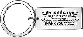 JJIA Best Friend Keychain Friendship Gifts for Women Men Key Chain Keyring Key Ring Christmas Gifts Birthday Gifts Thanksg...