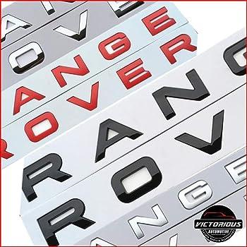 RangeRover Sport set di lettere in argento opaco anteriore o posteriore Vogue Evoque Velar
