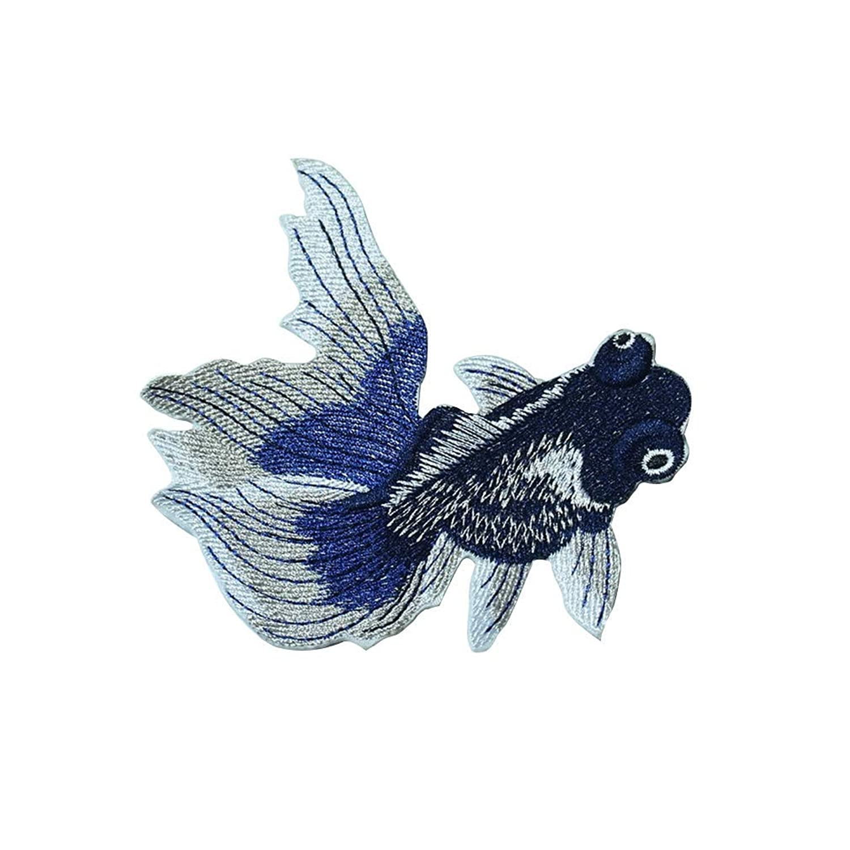 UCCU プレミアム ワッペン パッチステッカー アイロンワッペン DIY アイロン接着さかなパッチワッペン モチーフ 刺繍 貼り付け 手作り 手芸DIY 縫い付け 補修 金魚 可愛い 便利