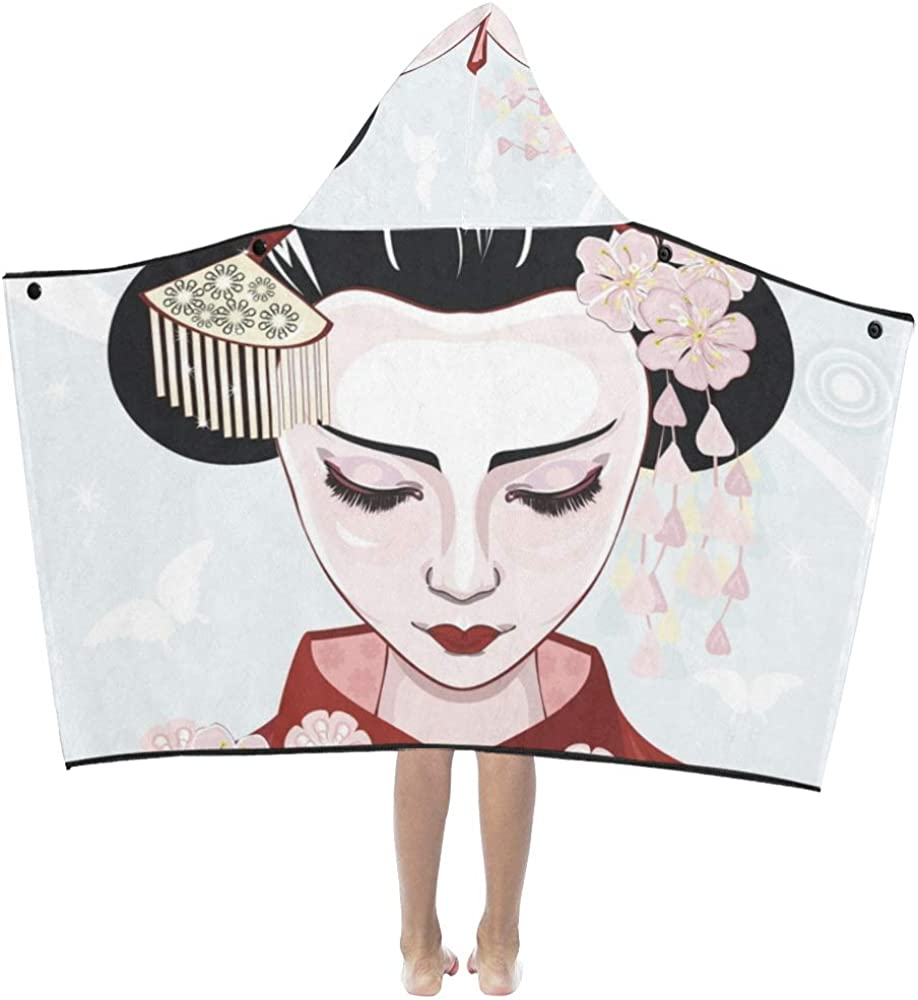 WBSNDB Regular discount Small Bath Towels Cute Cartoon K Travel with Geisha Japan latest