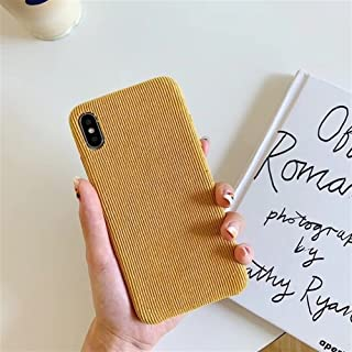 Warm Corduroy Texture Phone ịphone 7 Frosted Fluff Soft TPU Cover For ịphone 8 Plus X Xs Max XR Cases Coque Capa (Color : ...