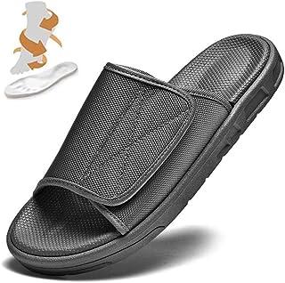 KRILY Chaussures Diabétiques Ajustables Unisexe Chaussures diabétiques à Pantoufle Extra Large pour Oedème Gonflé Pied Lar...