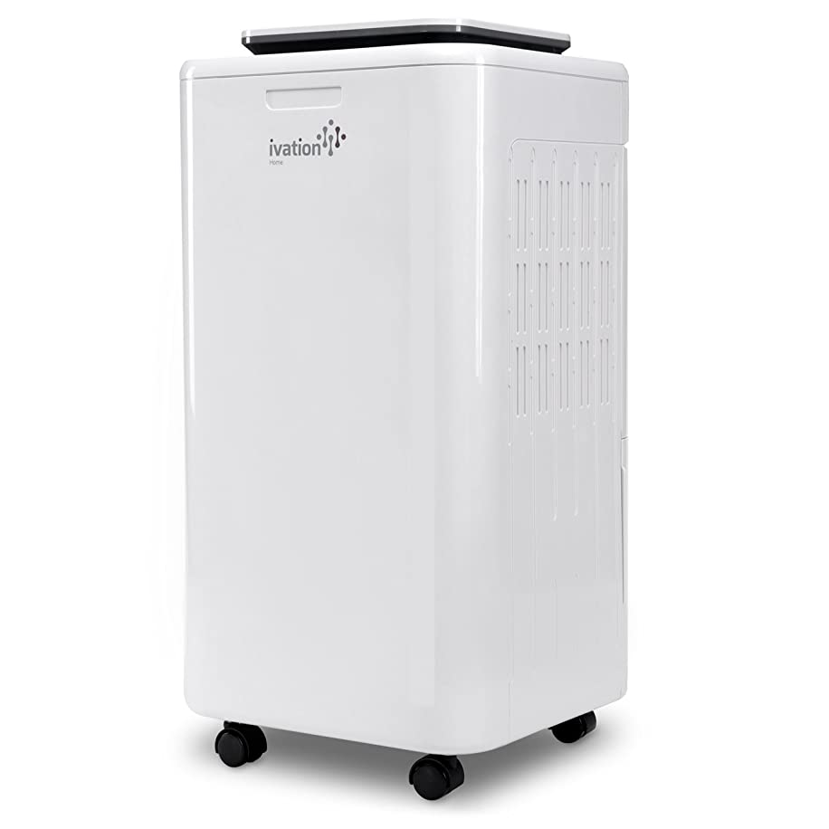 Ivation 11 Pint Small-Area Compressor Dehumidifier - with Continuous Drain Hose, Air Purifier & Ionizer for Smaller Spaces, Bathroom, Attic, Crawlspace and Closets - for Spaces Up to 216 Sq/Ft