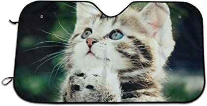 Cute Little Cat Auto Sun Shade for Car SUV Truck 27.5 X 51 Inch, Foldable Auto Window Sunshade,Blocks Uv Rays to Keep Your Vehicle Cool for Windshield