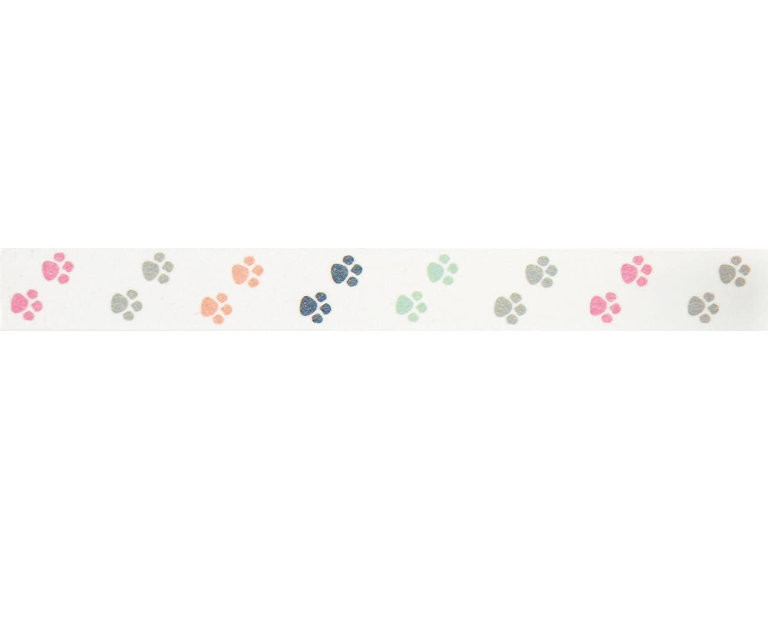 Puppy Paws Washi Tape | 1 Roll - 9/16 inches Wide x 10.95 Yards Long | Decorative Craft Tape