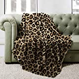 BOOPBEEP Leopard Comfy Throw Blanket, Luxury Cheetah Leopard Blanket Animal Print Throw Blankets for Couch/Bedroom/Living Room/Sofa- 50x40 Inch Lightweigth Super Soft Blanket for Adult & Kids
